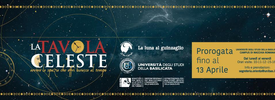 La Tavola Celeste presso l'Università di Basilicata a Potenza-Campus di Macchia Romana